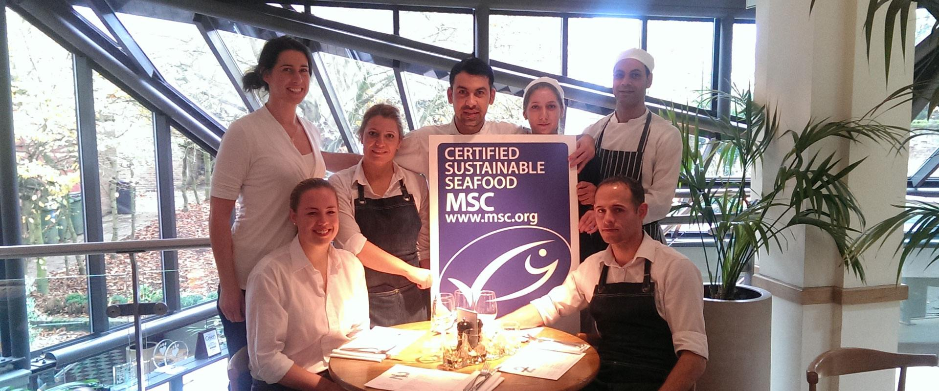 Andrei accepts the MSC UK Chef of the Year 2016 Award