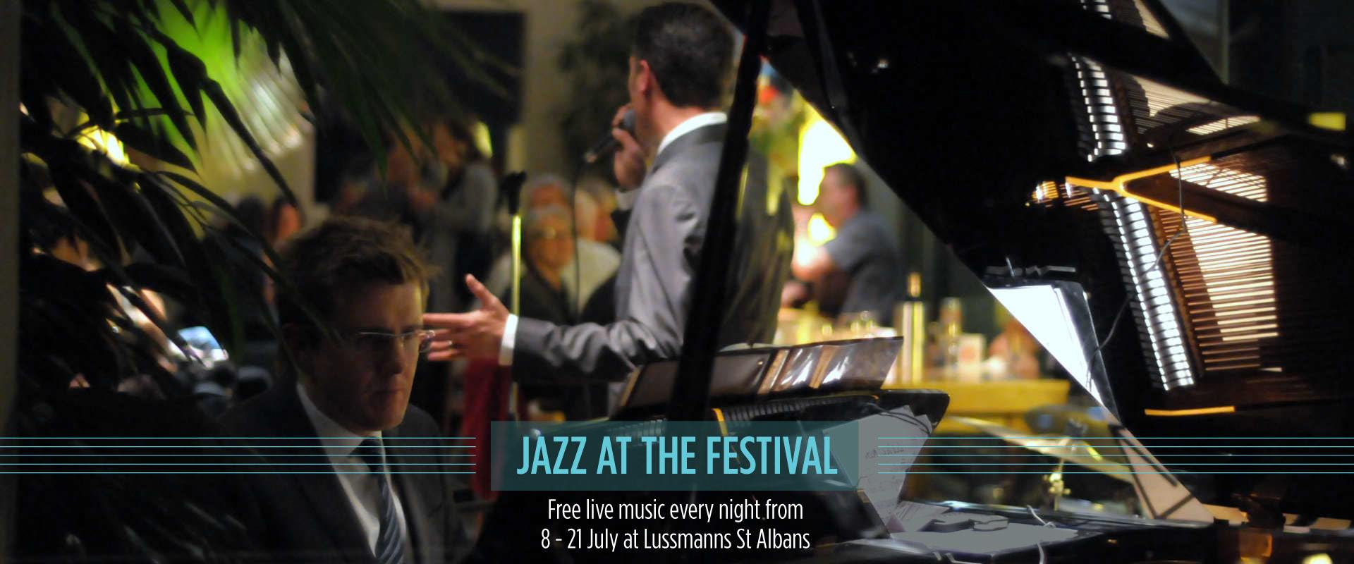 Jazz at the St Albans Music Festival at Lussmanns