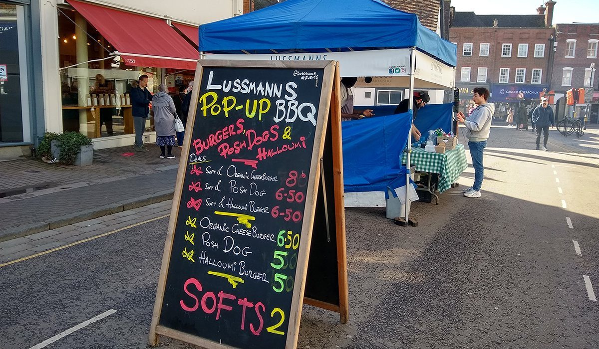 Lussmanns mobile barbecue in St Albans